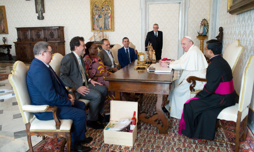 Pope audience Fairtrade