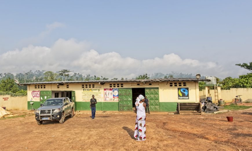 ECAKOG cooperative headquarters in Lakota in the western part of Ivory Coast.