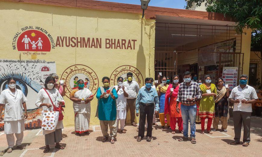 Gratitude cakes distributed at Ayushman Bharat