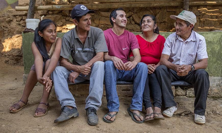 Family at the Norandino Cooperative, Peru