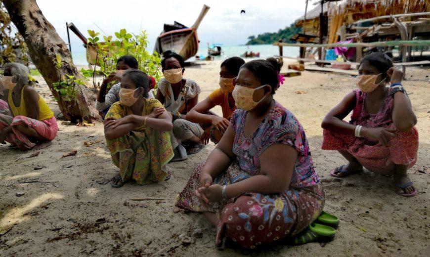 The Urak Laovi Group Rawai fishing community who received rice from Nam Om