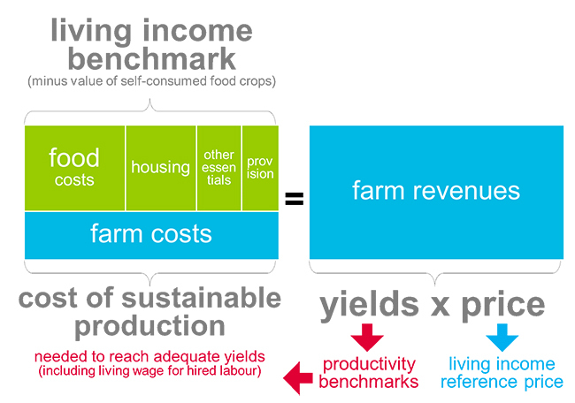 Living income benchmark diagram