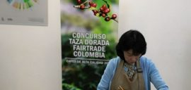 A judge at the Colombian Fairtrade Golden Cup Awards
